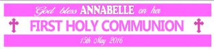Personalised Girl First Communion Banner Design 6